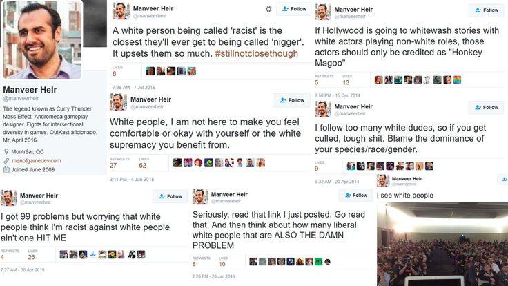 Mass Effect: Andromeda developer: Manveer Heir is an unapologetic racist.