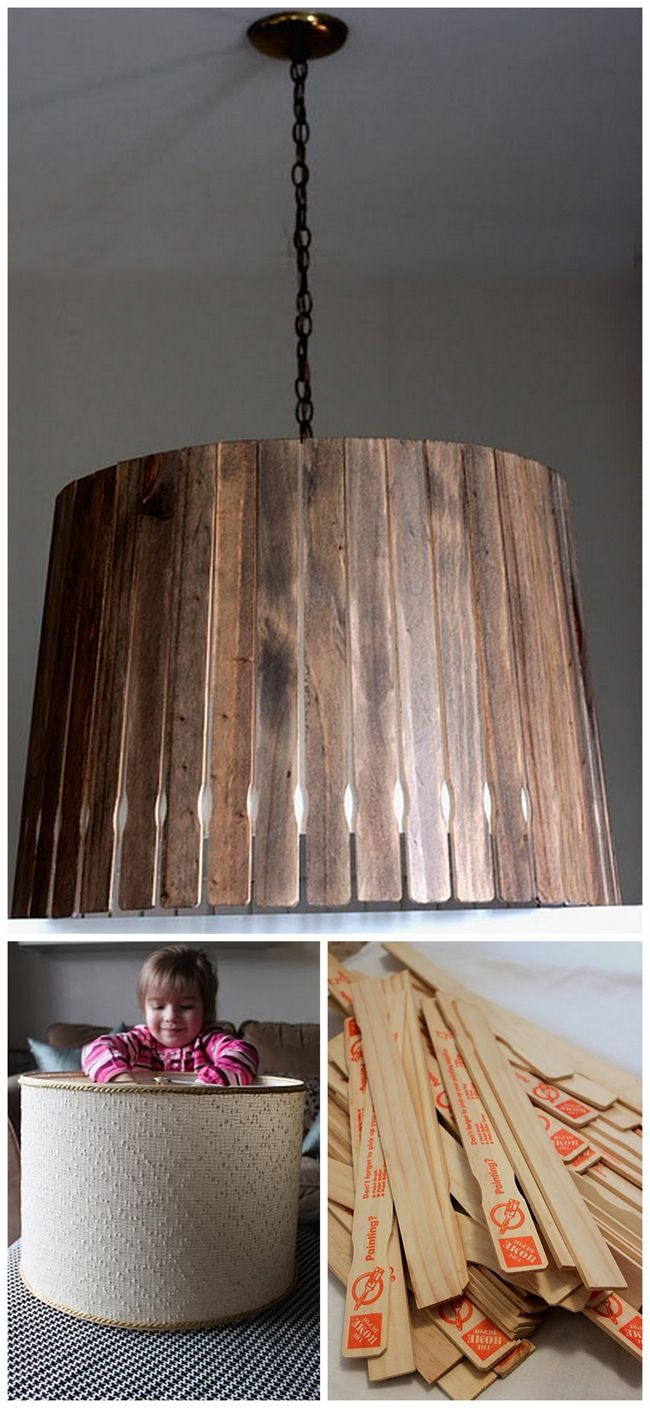Nook And Nest - Affordable Interior Decorating and Home Staging - Blog - DIY Paint Stick Pendant Light