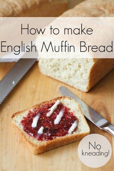 English Muffin Bread (aka a very, very easy bread recipe)