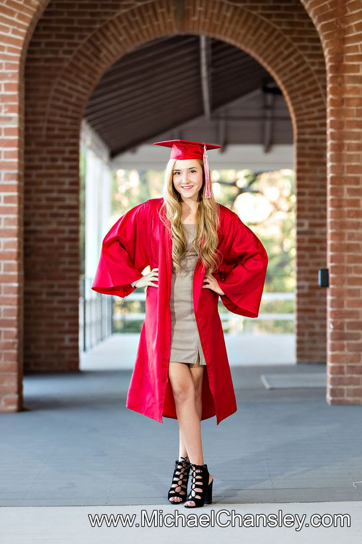 Fun College Senior Graduation Grad portrait photo ideas at Tucson The University of Arizona campus in Tucson AZ Arizona taken by Michael Chansley Photography Cap and Gown college Old Main Fountain group sorority friends guys girls UofA High School group girl guy pose poses photographer idea ideas bottles of champagne sexy hot model cap and gown red