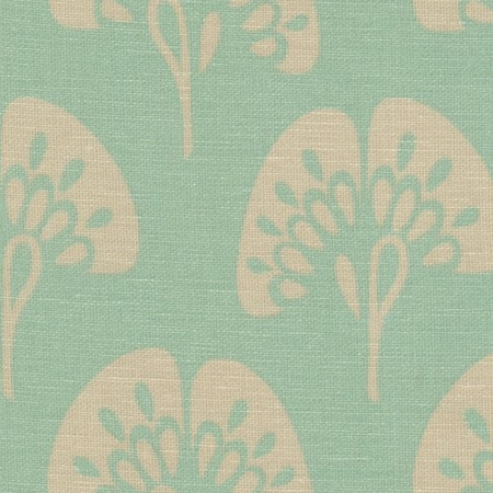 Ginkgo Fabric in Aqua from the Company C event at Joss & Main    Would it be too matchy to reupholster my kitchen chair seats in this and make a matching table cloth?