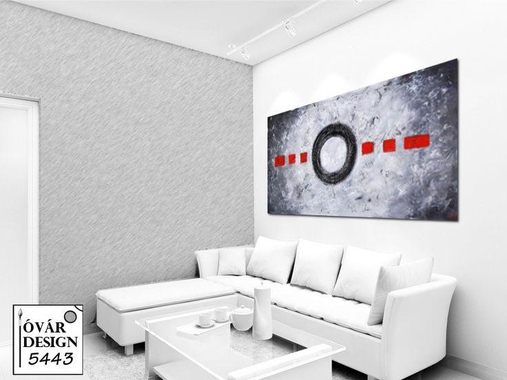 Modern interior Dekor festményekkel