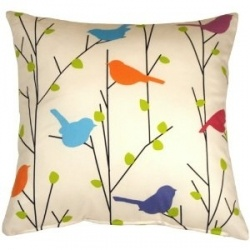 Spring Birds 15x15 Decorative Pillow
