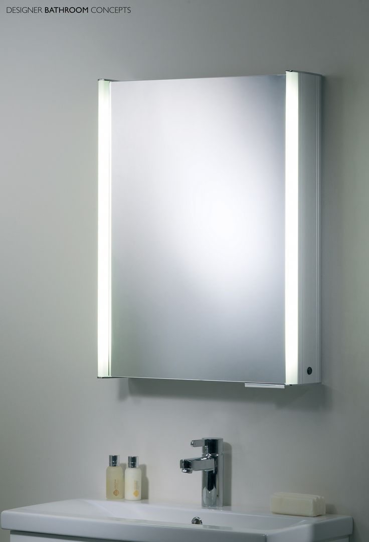 Illuminated bathroom cabinets mirrors shaver socket - Plateau Designer Illuminated Bathroom Cabinet From Designerbathroomconcepts Com