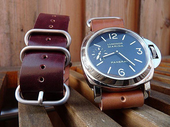 Horween Shell Cordovan NATO Watch Straps