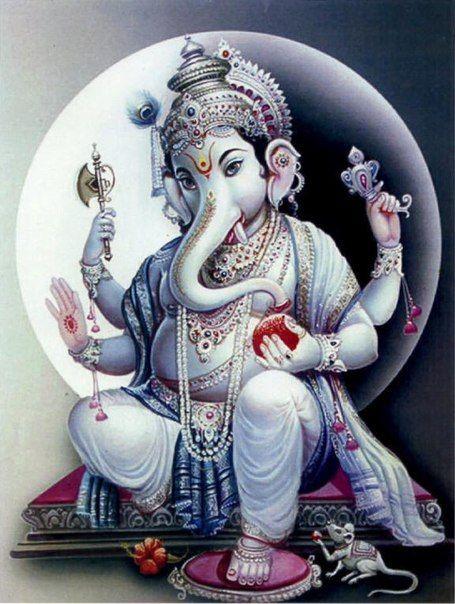 Ganesha, Hindu elephant-god.