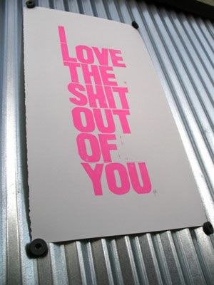 12 Love-ly Typographical Prints For Your Valentine via Brit + Co.