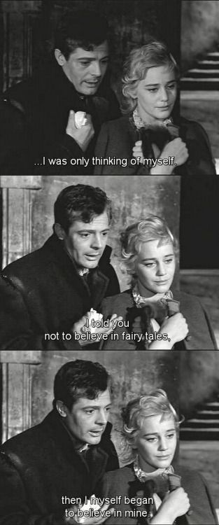somearebornto-endlessnight:Le notti bianche (1957)/dir. Luchino Visconti/ novel; White Nights (Belye noci) by Fyodor Dostoevsky