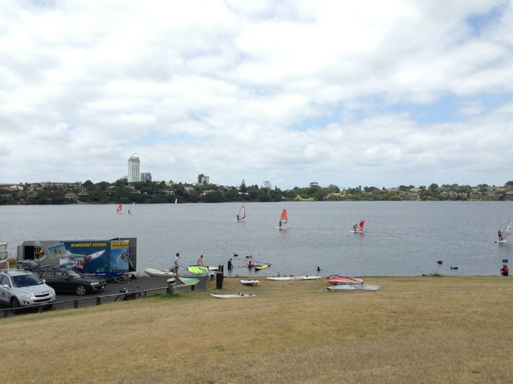 Lake Pupuke is in the heart of the North Shore, Auckland