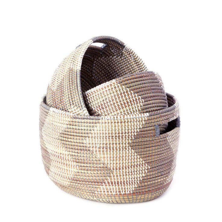 Wolof Women In Rural Senegal Weave These Storage Baskets From Cattail  Stalks And Long Strips Of Plastic Typically Used To Create Rugs And Prayer  Mats.