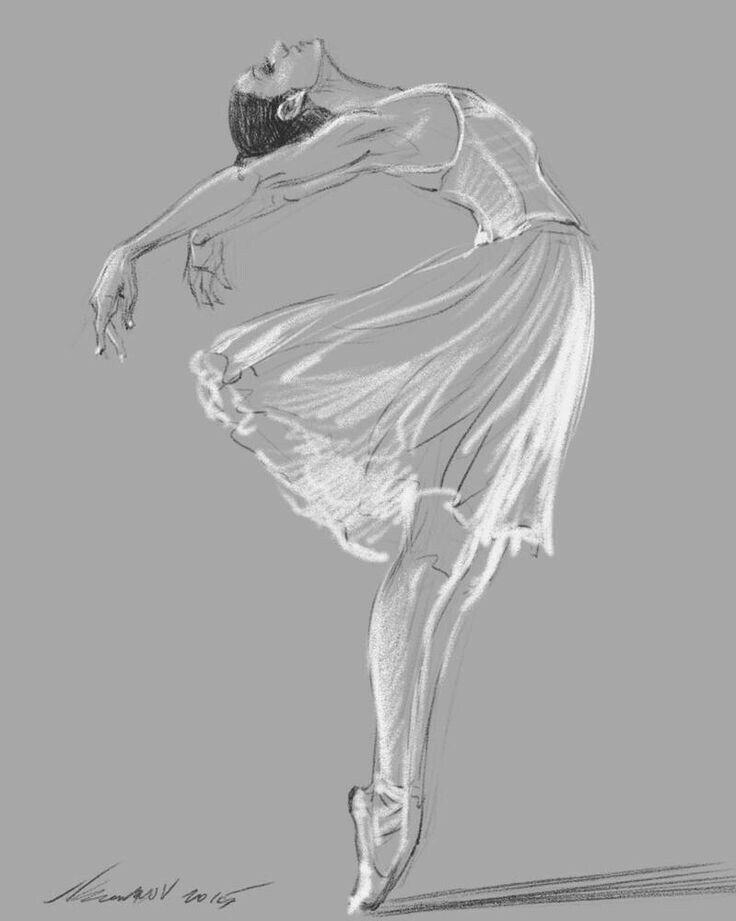 танцующий человек картинки карандашом уже