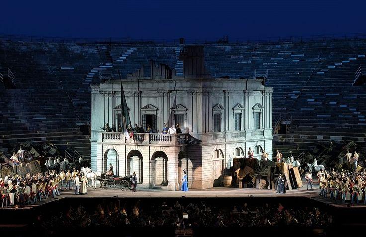 """Inaugurata la 95/a edizione dell'Opera Festival 2017 all'Arena di Verona con il #Nabucco di Giuseppe Verdi con un nuovo allestimento: Decima ha progettato, realizzato e montato una struttura a """"carri"""" che sostiene e permette la movimentazione della scenografia sovrastante  #decima #webuildemotions"""