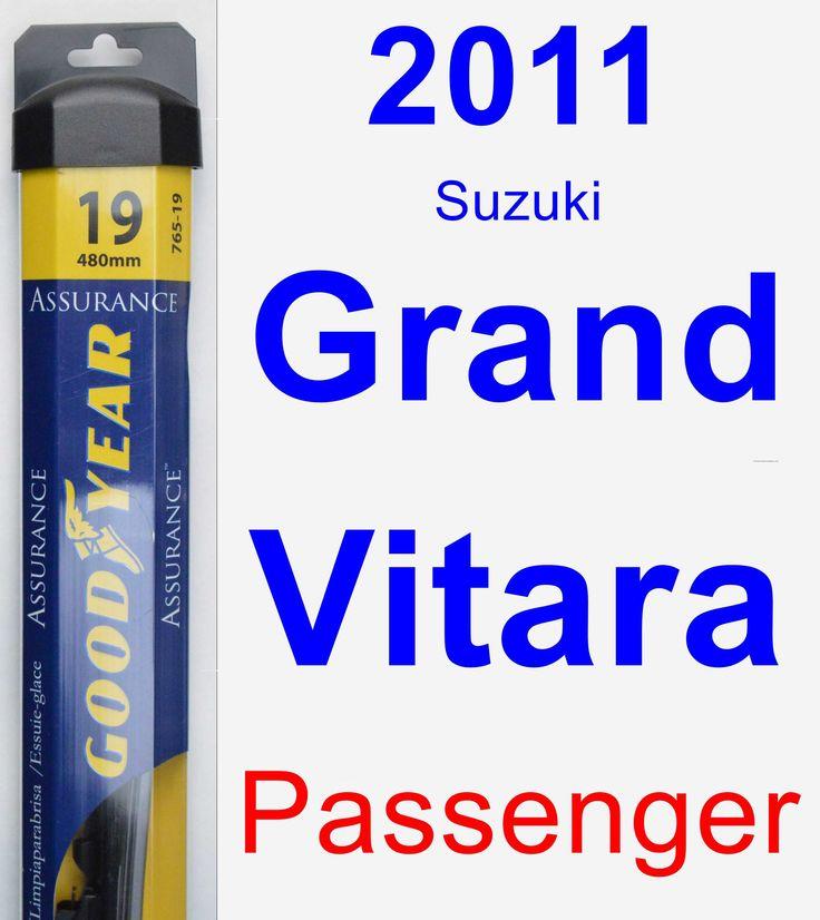Passenger Wiper Blade for 2011 Suzuki Grand Vitara - Assurance