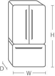 fridge measurements | refrigerator dimensions