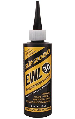 Slip 2000 EWL30 4oz.:   EWL-30 has the same properties as our original EWL but with an additional carrying agent that makes a thicker, heavier weight (30) lubricant. Slip 2000 EWL-30 was formulated especially for use on automatic rapid-fire and machine gun, riffles and pistols. Slip 2000 EWL-30 contains an exclusive metal treatment designed to control friction, which reduces heat and eliminates excessive wear. It penetrates the micro-pores of the metal surfaces bonding itself to the me...