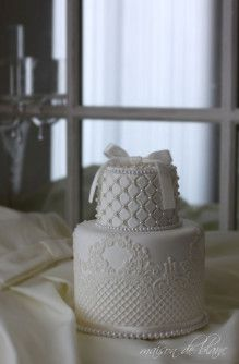 ring pillow cake クレイで作るリングピローケーキ 生徒様レッスン作品