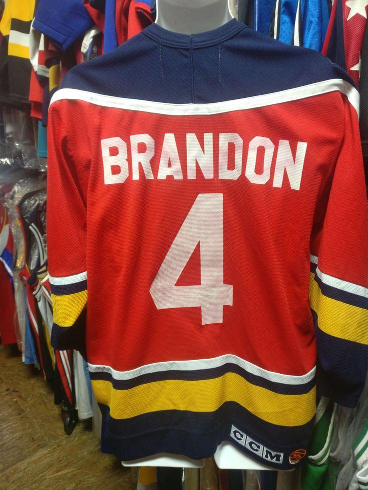 Vintage #4 BRANDON Florida Panthers NHL CCM Jersey M