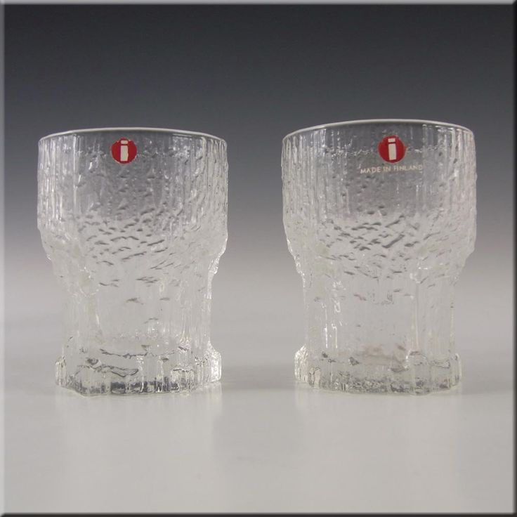 Iittala Swedish Glass Aslak Shot Glasses by Tapio Wirkkala - £29.99