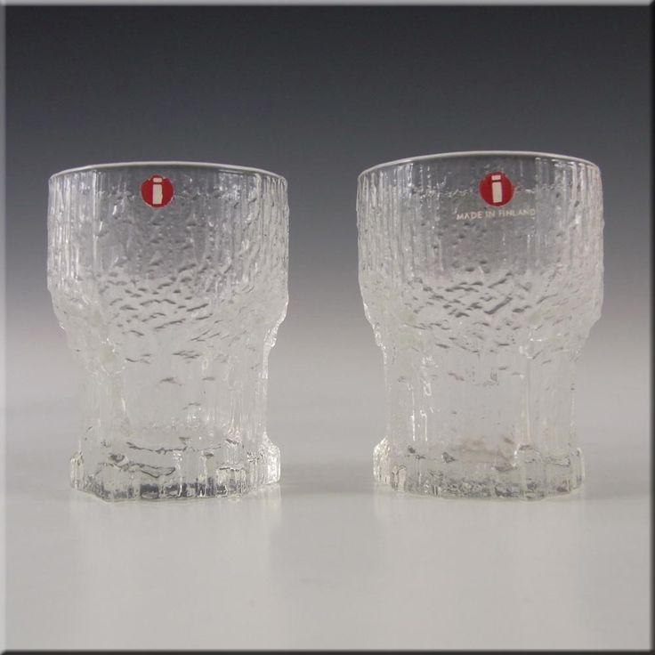 Iittala Swedish Glass Aslak Shot Glasses by Tapio Wirkkala - £29.99