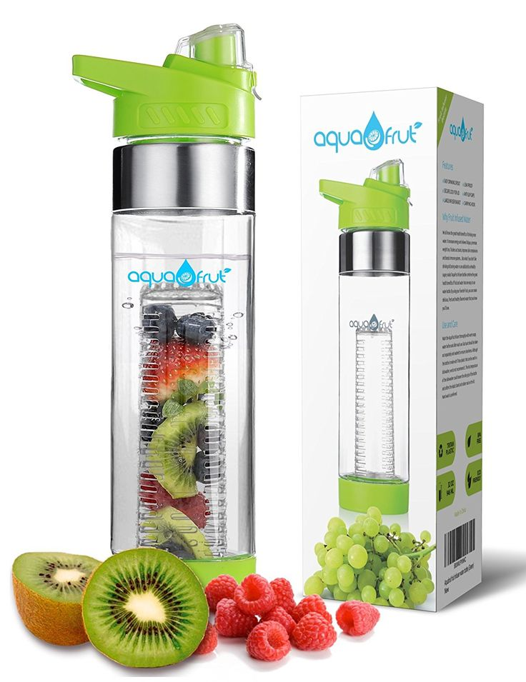 AquaFrut Bottom Loading Fruit Infuser Water Bottle - BPA Free Tritan Plastic - Leak Proof - 24 OZ - Infusion Recipe eBook Included -- Awesome product. Click the image : Hiking food