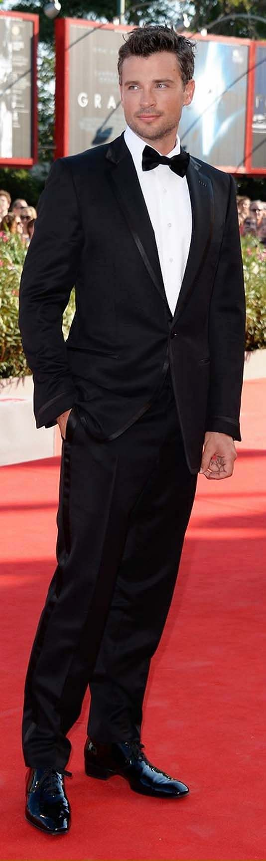 """Black Tie - Tom Welling at Venice Film Festival 2013 for opening of """"Parkland"""""""