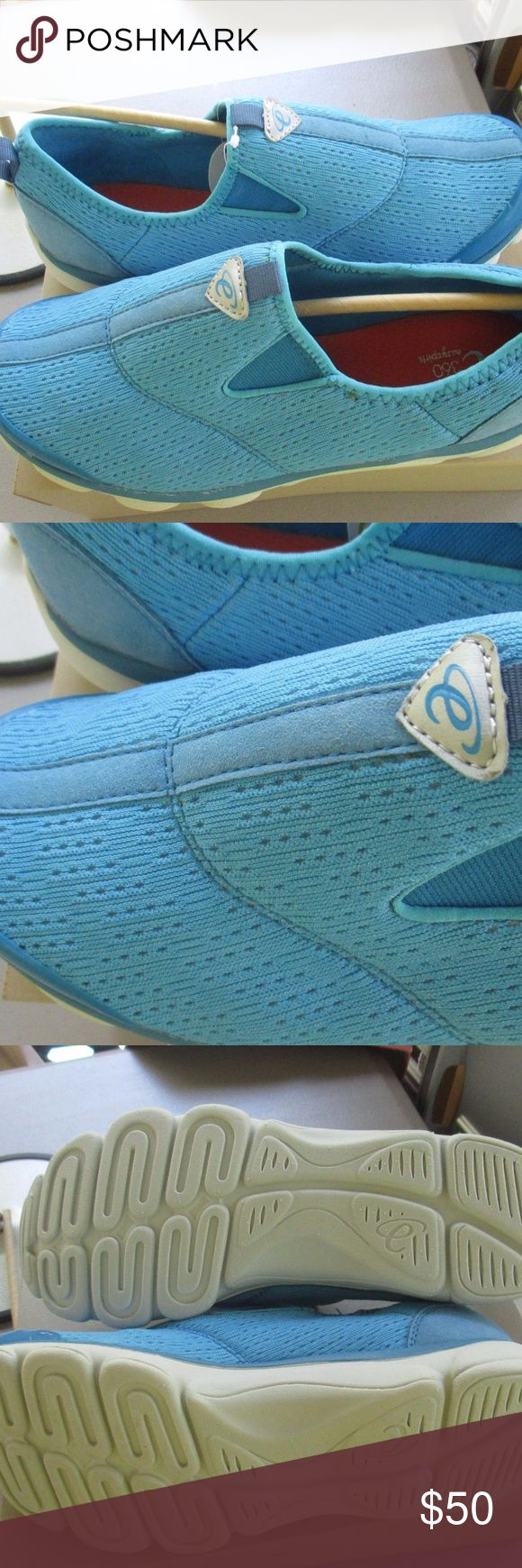 EASY SPIRIT Womans Sneakers WOMANS EASY SPIRIT 360 SIZE 8.5 WW LIGHT BLUE  MAN MADE MATERIAL STRETCH UPPER & SOCK LINING GEL CUSHION SYSTEM LIGHTWEIGHT SLIP ON MULES  NEW WITH BOX Easy Spirit Shoes Sneakers