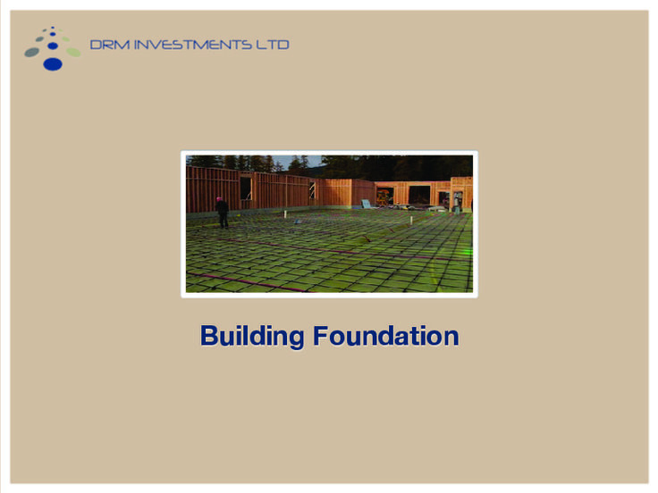 Foundation is used to support a building or structure and transmits loads directly to the underlying soil or rock.