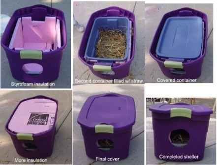 Got feral cats in the backyard? Keep 'em warm this winter. | 26 Hacks That Will Make Any Cat Owner's Life Easier