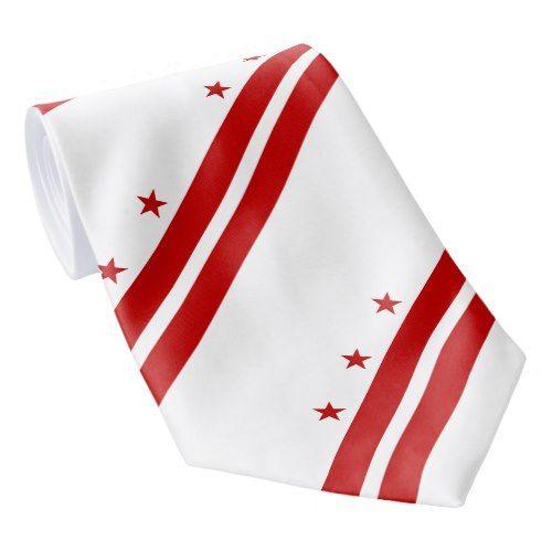Patriotic Washington Dc State Flag Neck Tie Zazzle Com In 2020 Washington Dc State State Flags Washington Dc