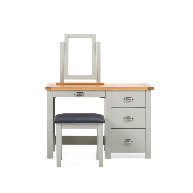 Sandringham Solid Oak Painted Cream/Grey Dressing Table -  - Dressing Table - Mark Harris - Space & Shape - 2