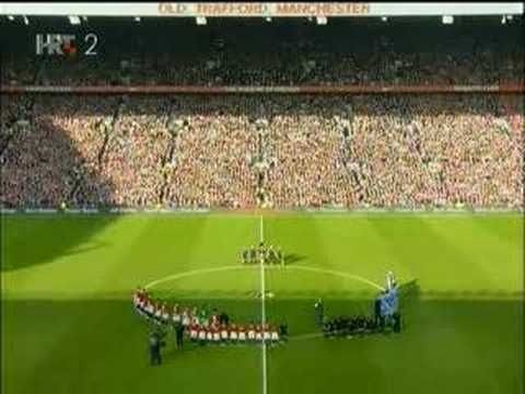 Minute of Silence in Old Trafford - 10.02.2008