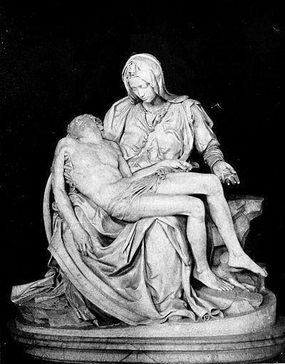Michelangelo hizo muchas esculturas. Uno de los esculturas mas famosos que hizo es la Pietà. La escultura representa el cuerpo de Jesús ensima de su mamá la virgen Maria despise del crucifixión.