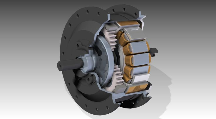 Golden Motor 250W geared hub motor for front bicyclewheel (Minimotor) - STL,STEP / IGES,Solid Edge - 3D CAD model - GrabCAD