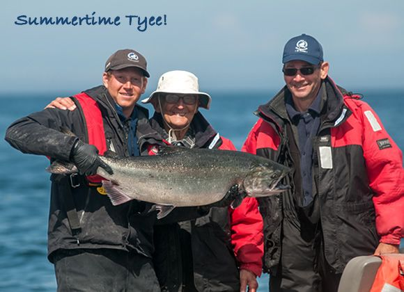 Summertime Tyee! Evan Joubert caught this 34-pound tyee under clear skies in Haida Gwaii, with the help of guide Brandon Kostman. http://www.peregrinelodge.com/blog.php?p=257