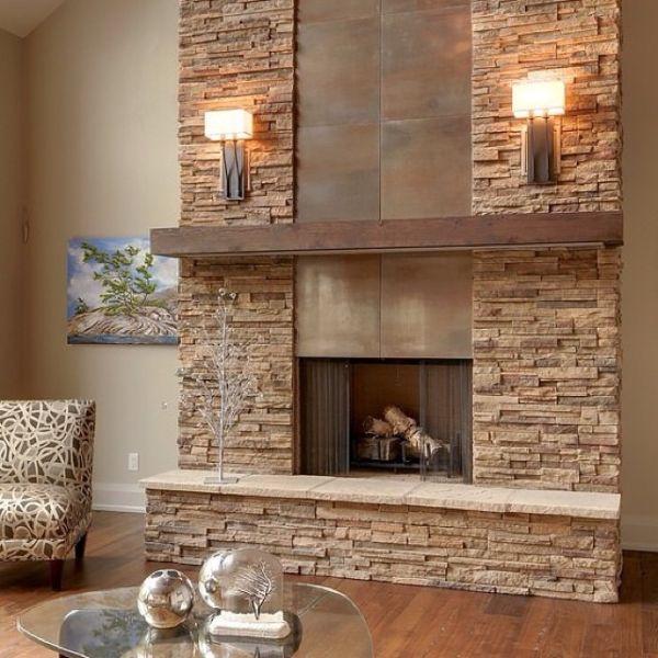 Как выбрать декоративный камень для отделки камина?