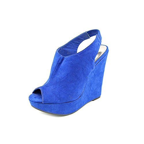 Carlos Santana Women Becket Blue Wedge Shoes 95 Blue -- You can find more details by visiting the image link.