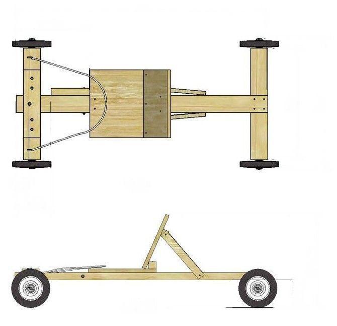 Maak deze kar zelf van steigerhout.