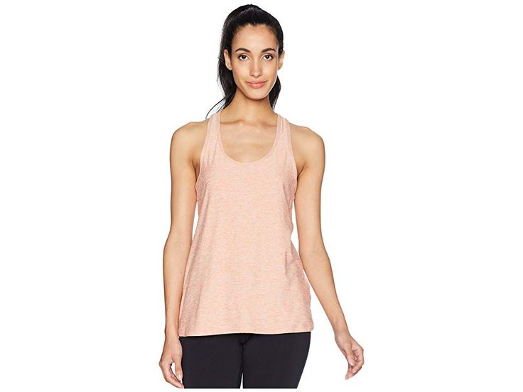 Beyond Yoga Double Up Racer Tank Top (Rainwash/Pink Shell) Women's Sleeveless. Go all-in during your next studio workout in the Double Up Racer Tank T…