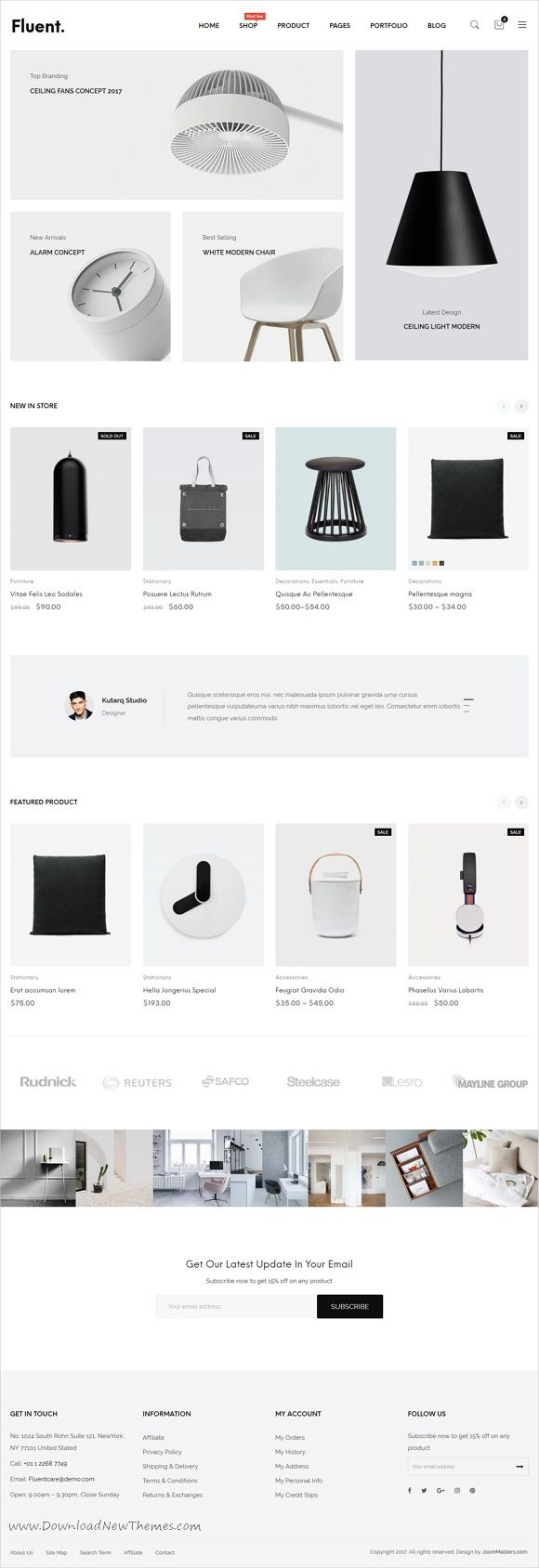 JMS Fluent is clean, minimal and modern design responsive #WooCommerce #WordPress theme for multipurpose #eCommerce website with 15 unique homepage layouts download now..