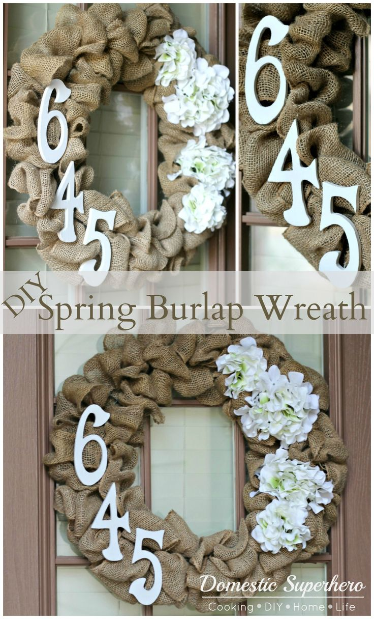 DIY Spring Burlap Wreath.. great mothers day present! I have a ton of burlap sitting in my fabric drawer- this is a great way to use it up!