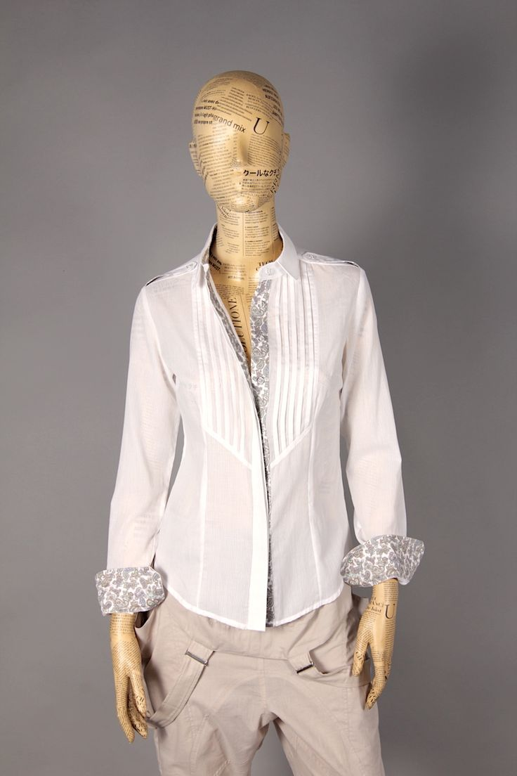 WHITE SHIRT WITH LONG FRILLS ON CHEST [MBA40] - 47.60EURO : www.madebyartist.ro - shop, www.madebyartist.ro - shop