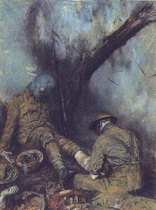 Dressing the Wounded During a Gas Attack - Austin Osman Spare