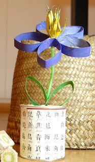 Flor de papel reciclado