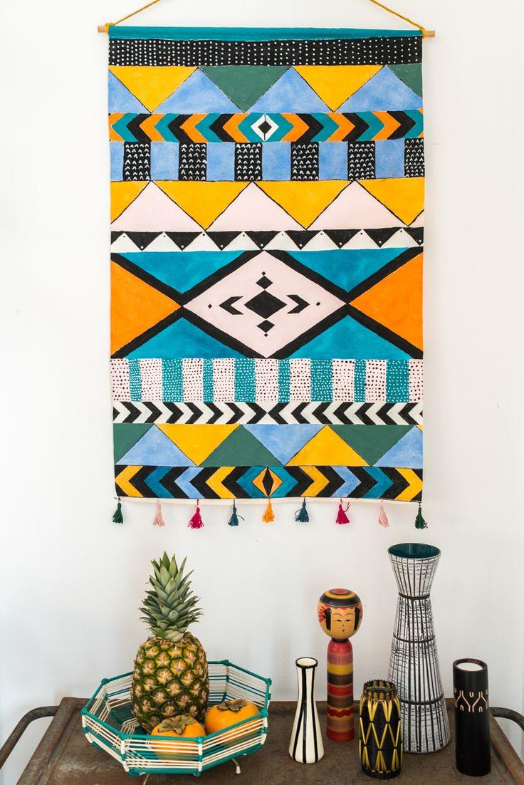 Anleitung für einen selbst gemachten Wandschmuck im Boho Look