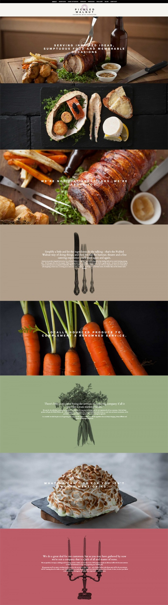 http://www.pickledwalnutcatering.co.uk/   #webdesign #food #catering #design #photography #cooking