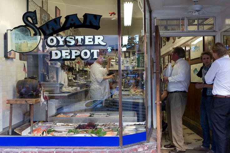 Swan Oyster Depot - S.F.   Google Image Result for http://foodieforays.files.wordpress.com/2012/02/20120223-015.jpg