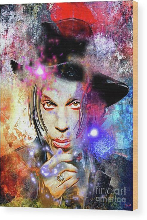 Prince Painted Wood Print by Daniel Janda. All wood prints are professionally printed, packaged, and shipped within 3 - 4 business days and delivered ready-to-hang on your wall. Choose from multiple sizes and mounting options.