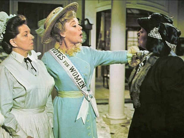Hermione Baddeley, Glynis Johns and Elsa Lanchester in Disney's <em>Mary Poppins</em> (1964).