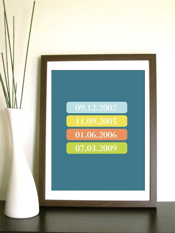 Modern Artwork Special Dates 8X10 Inches Other by TexturedINK, $22.00Crafty Stuff, Modern Artworks, Diy Art, Gift Ideas, Artworks Special, Art Ideas, Coolers Version, Important Dates, Artworks Floating