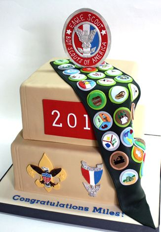 eagle scout cake possibly my favorite of the ones I've seen